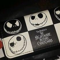 Disney Tim Burton's  the Nightmare Before Christmas Wallet Unisex Jack Checkered Photo
