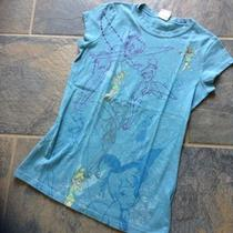 Disney Tinkerbell Fairies Cute Sparkle Graphic Vintage Tee Retro T-Shirt Jr Sz M Photo