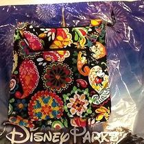 Disney Vera Bradley Large Black Hipster / Crossbody Midnight With Mickey Photo