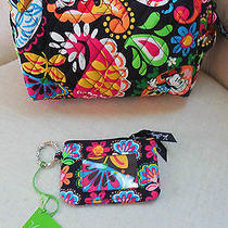 Disney Vera Bradley Midnight With Mickey Cosmetic Bag & Zip Id Tag  Photo