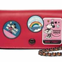 Disney X Coach 1941 Dinky With Minnie Mouse Patches Red Nwt Htf  Photo