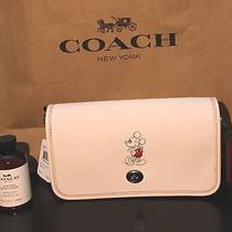 Disney X Coach Chalk Mickey Mouse Penny Leather Crossbody Nwt 395 Purse Bag Photo