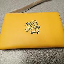 Disney X Coach Corner Zip Wristletnwt Banana (Yellow) Mickey Mouse F59528 Photo