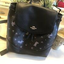 Disney X Coach Dalmatian Floral Print Elle Backpack Bag Purse 91127 Limited Ed Photo
