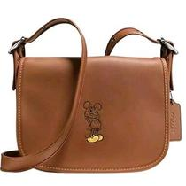 Disney X Coach F59359 Patricia Saddle 23in Glove Calf Leather With Mickey 495 Photo