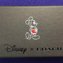 Disney X Coach Mickey Mouse Red/black Leather Hangtag Key Fob New in Box Photo