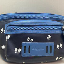 Disney X Coach Terrain Belt Bag W/snow White the Seven Dwarfs Spooky Eye Print Photo