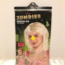 Disney Zombies Addison Platinum Costume Child Girls Wig Photo