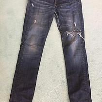 Distressed Blue Hudson Low Rise Relaxed Skinny Jeans - Size 28