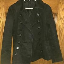 Divided by h&m Black Double Breasted Denim Feel Jacket Size 40 Photo
