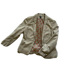 Divided by h&m Blazer Tan Witg Oink Bow Interior Size 10 Photo