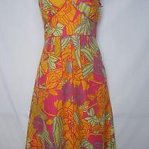 Divided by h&m Multi-Color Bright /colorful Linen Floral Halter Dress Women's 38 Photo