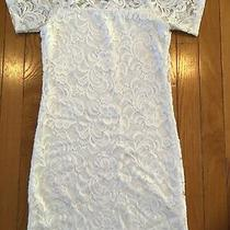 Divided by h&m Short Sleeve White Lace Overlay Bodycon Pencil Dress Party Club Photo