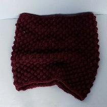 Divided by h&m Women's Knit Snood Scarf Maroon One Size Photo