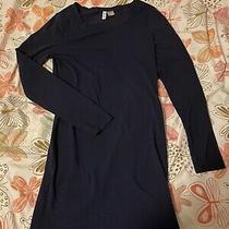 Divided h&m Basic Hm Long Sleeve Dress Shirt Small S Navy Blue Photo