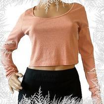 Divided h&m Women's Crop Top - Dusty Rose- Long Sleeve - Size Medium Photo