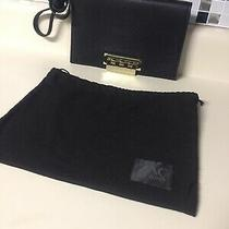 Dk Zac Posen Organizer Crossbody Convertible Clutch Black Stone Purse Bag 475 Photo