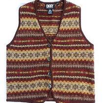 Dkny 100% Pure Wool Vest Size Medium   Photo