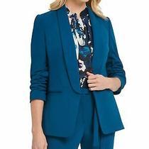 Dkny 129 Womens New Teal Blazer Casual Jacket 12 Bb Photo