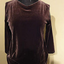 Dkny 2 Pc Pant Suit Silky Smooth Velvet So Comfy & Soft S Small Chocolate Brown Photo