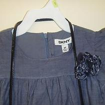 Dkny 4t Little Girl Beautiful Dress With Black Dress Purse Photo