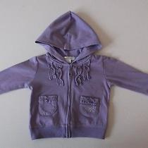 Dkny Baby Hoodie Cotton Blend Knit Lavendar Size 0 - 3 Months B2 Photo