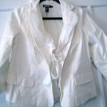 Dkny Basic White Summer Jacket Photo
