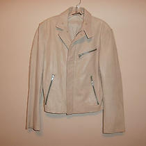 Dkny Beige Leather Jacket M Photo