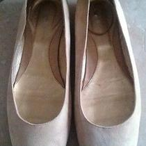 Dkny Beige Suede Ballerina Flats Shoes Made in Italy Size 10 Photo