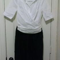 Dkny Black and White Dress Size 4 Cute Photo