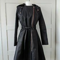 Dkny Black Coat / Mac With Hood / Size Xs / Brand New Photo