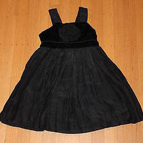 Dkny Black Dress With a Large Black Flower Photo