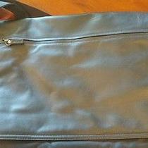 Dkny Black Leather Computer Messenger Bag Photo