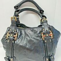 Dkny Black Leather Satchel Handbag Purse Tote  Photo