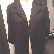 Dkny Black Pure Cotton Cape Jacket With Shirt Collar Sz10 Photo
