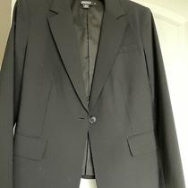 Dkny Black Wool Blazer With Back Pleated Peplumsize 10 Runs Small. Photo