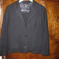 Dkny Black Wool Short Jacket With Short Skirt Photo