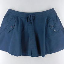 Dkny Blue a-Line Above Knee 100% Cotton Tie Waist Womens Skirt Sz 0 2 Ksac Photo