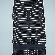 Dkny Blue and White  Striped Playsuit Jumpsuit Shorts M  Photo
