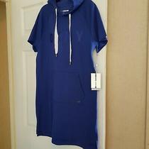 Dkny Blue Sweatshirt Sport Tee Hooded Dress Size S Uk 10 New Photo