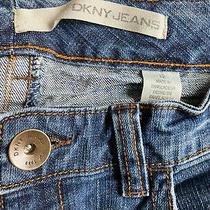 Dkny Boot Cut Jeans Women's Size 12 Blue Distressed Denim Photo
