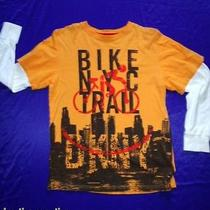 Dkny Boys  Nyc Bike Trail 2fer Long Sleeve T-Shirt Size -Large Photo