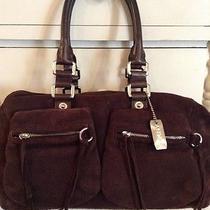 Dkny Brown Suedej Handbag  Photo