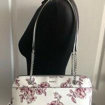 Dkny Bryant Park White Pink Floral Shoulder Bag Satchel Clutch New Photo