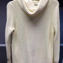 Dkny/c Womens Cream Cowl Neck Sweater Dress Size Medium Photo