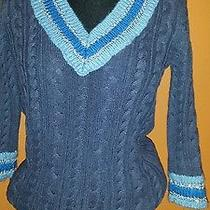 Dkny Cable Knit Sweater Sz Small  Photo