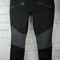 Dkny City Ultra Skinny Low Rise Jeans Black and Gray Size 14 Color Block Jeans  Photo