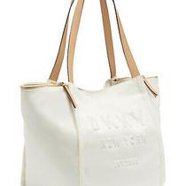 Dkny Courtney Logo Handbag Tote (White) Photo