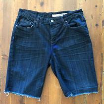 Dkny Cut Off Dark Blue Denim Jean Shorts Womens Size 2 Photo