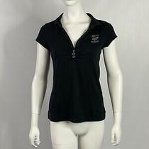 Dkny Dark Grey Polo Shirt Womens Xl Photo